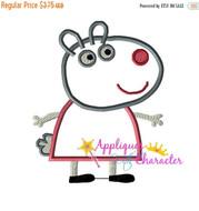 AWC Suzie Sheep Pepper Pig Applique Design