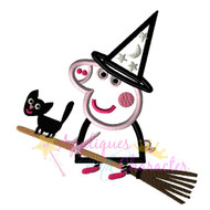 AWC Pepper Pig Witch Applique Design