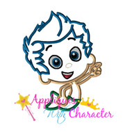Bubble Guppies Gill Applique Design