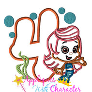 Bubble Guppies Molly FOUR Applique Design