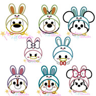 Disney Easter Bunny Tsum Tsum Applique Design SET