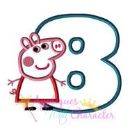 Pepper Pig Eight Applique Design