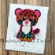 Beanie Boo Glamour Leopard Applique Design