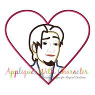 Flynn Tangled  Heart Applique Design