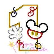 Mickie Mouse One Applique Design