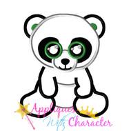Beanie Boo Panda Bear Applique Design