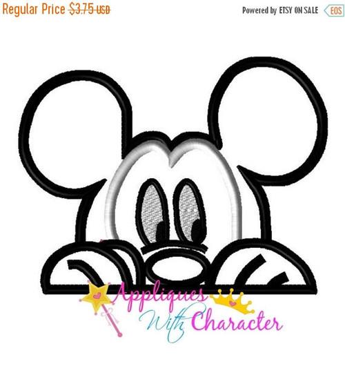 Disney Inspired Mickie Peeking Face Design
