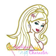 Barbie Fashion Applique Design Movie Bust