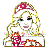Barbie Secret Door Movie Bust Applique Design