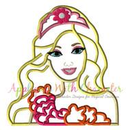 Barbie Secret Door Movie Bust Applique Design