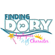 Finding Dory Logo Applique Design