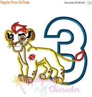 Lion Guard THREE Inspired Applique Design