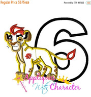 Lion Guard SIX Inspired Applique Design