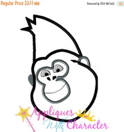 Sing Movie Johnny Gorilla Applique Design