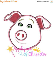 Sing Movie Rosita Pig Applique Design