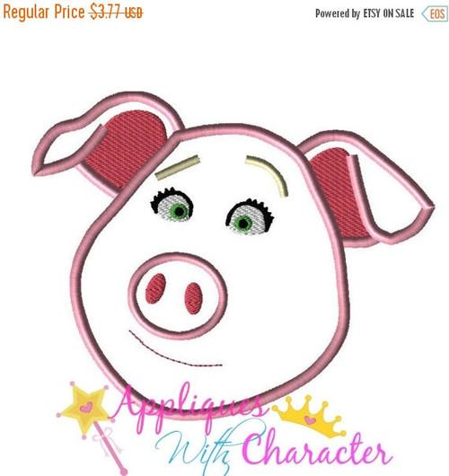 Sing Movie Rosita Pig Applique Design