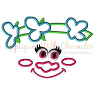 Troll Movie Poppy Face Applique Design