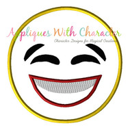 Laughing Emoji No Tears Applique Design