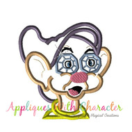 Dopey Diamond Bust Applique Design