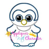 Beanie Boo Owl Applique Design