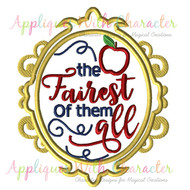 Exclusive Snow White Fairest Of All Mirror Applique Design