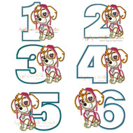 Paw Sky One Two Three Four Five Set  Applique Design