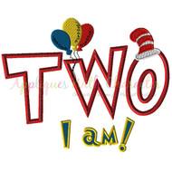 Two I am  Applique Design