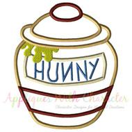 Winnie The Pooh Honey Pot Applique Design