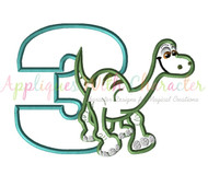 Arlo Good Dinosaur Three Applique Design