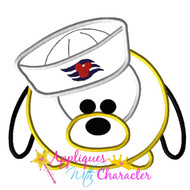 Pluto Cruise Tsum Tsum Applique Design