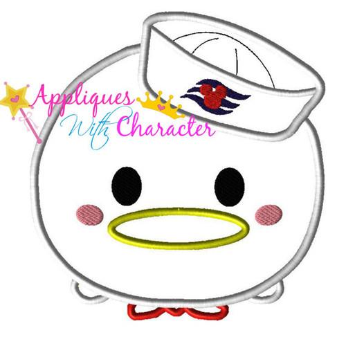 Donald Duck Cruise Tsum Tsum Applique Design