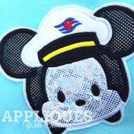 Mickey Captain Cruise Tsum Tsum Applique Design