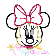 Minnie Face Applique Design