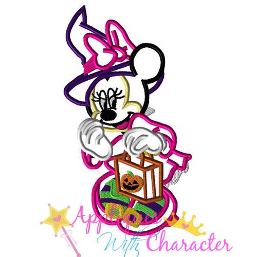 Minnie Witch Halloween Applique Design
