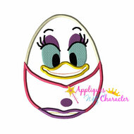 Daisy Duck Easter Egg Applique Design