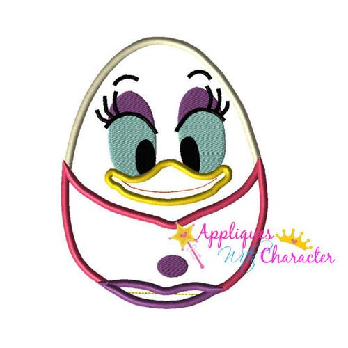 Daisy Duck Easter Egg Applique Design