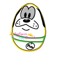 Pluto Easter Egg Applique Design