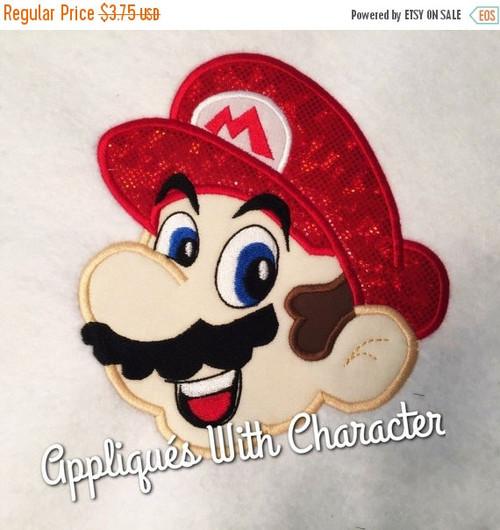 Mario Face Applique Design