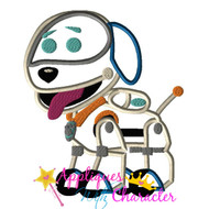 Paw Patrol Robo Dog Applique Design