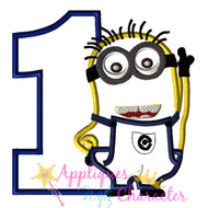 Minion One Applique Design