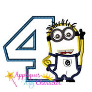 Minion Four Applique Design