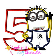 Minion Five Applique Design