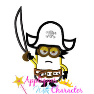 Minion Pirate Applique Design