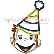 Curious George Party Boy Applique Design