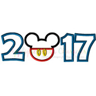 2017 Mickey Head Applique Design
