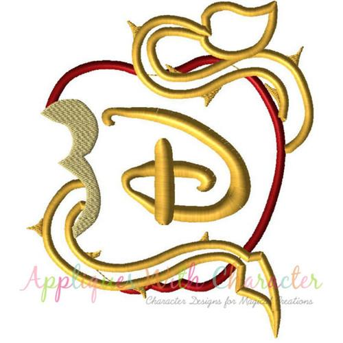 Character Applique Design : Descendants applique design by appliques with character