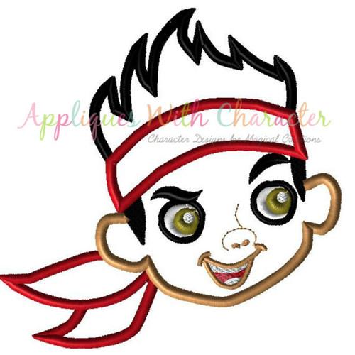Jake Neverland Pirates Face Applique Design