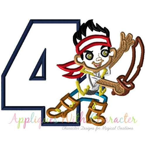 Jake Neverland Pirates Four Applique Design