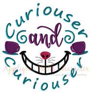 Curiouser and Curiouser Applique Embroidery Design