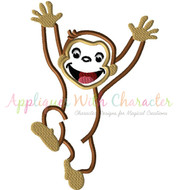 Curious George Applique Design